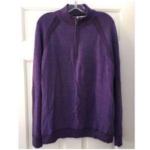 Robert Graham Purple Wool Sweater Classic Fit L